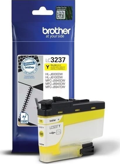 Brother LC3237Y blækpatron, gul, 1500 sider