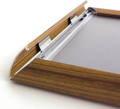 Alu Plakatramme, Snap-frame, 70 x 100 cm, Brun