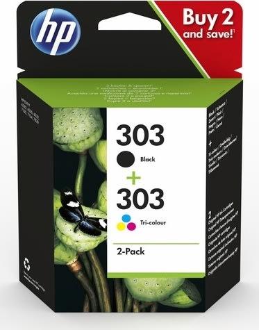 HP nr. 303 blækpatroner i blisterpakning, sampak