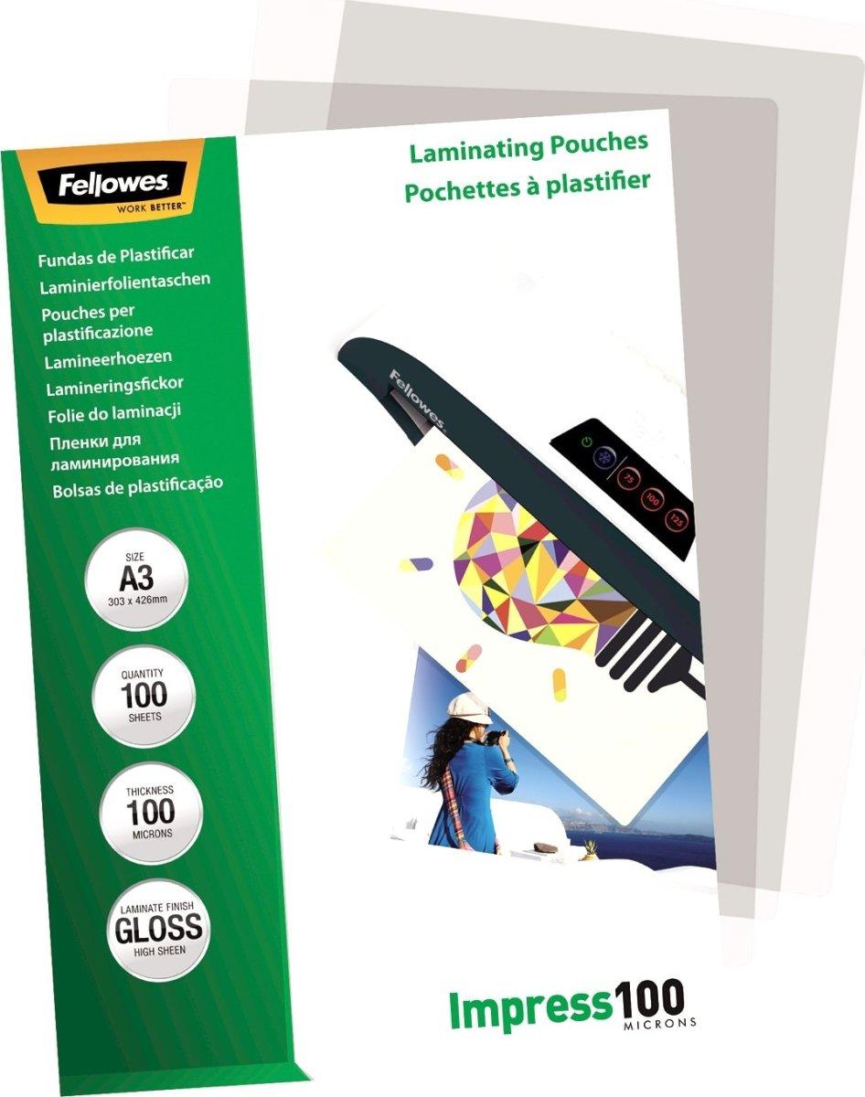 Fellowes Impress 100 mic A3 lamineringslomme gloss