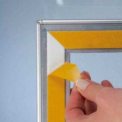 Alu plakatramme t Vindue, Snap-frame, 70x100, Sølv