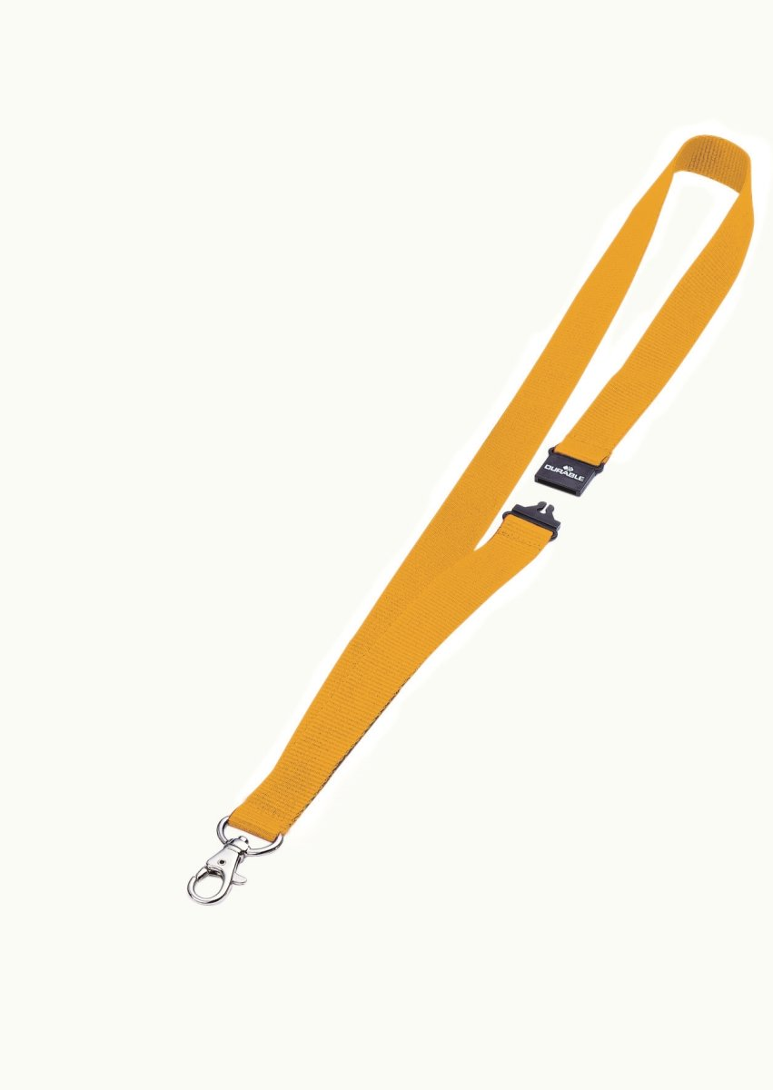 Durable Tekstil halsbånd 20 mm, gul