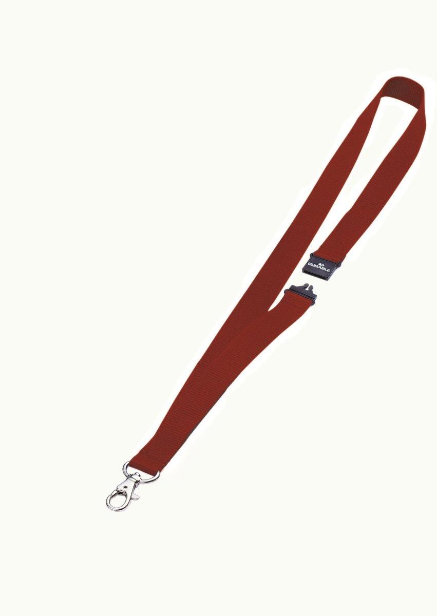 Durable Tekstil halsbånd 20 mm, rød