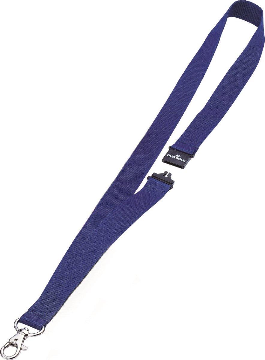 Durable Tekstil halsbånd 20 mm, blå