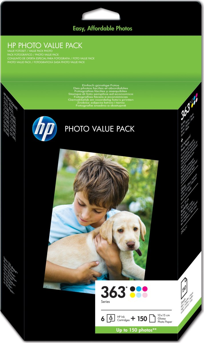HP No363 valuepack & 10x15 Adv. pap(150)bli.