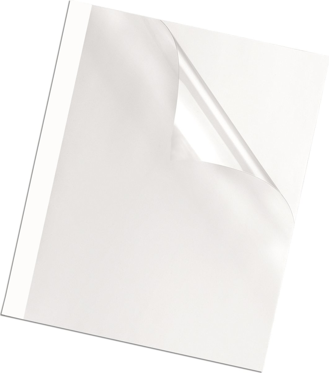 Fellowes standard thermal binding cover 3 mm, hvid