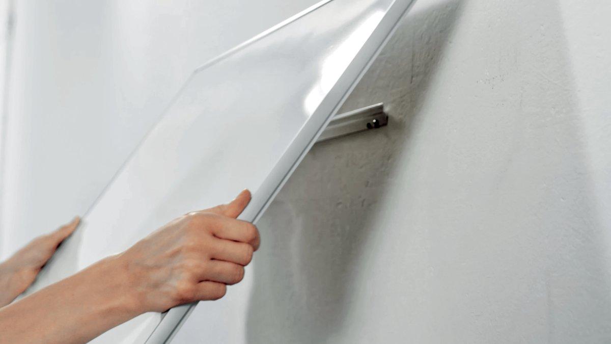 """Nobo widescreen NanoClean whiteboard i hvid, 85"""""""