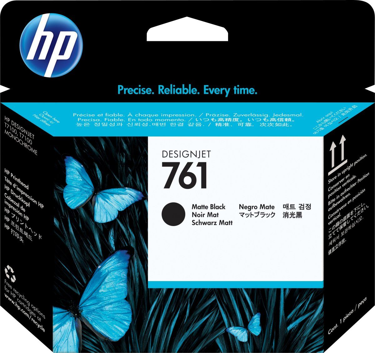 HP No761 blækpatron, mat sort, 400 ml