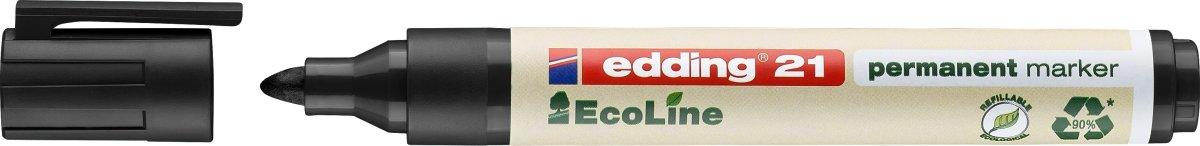 Edding 21 ecoline permanent marker, sort