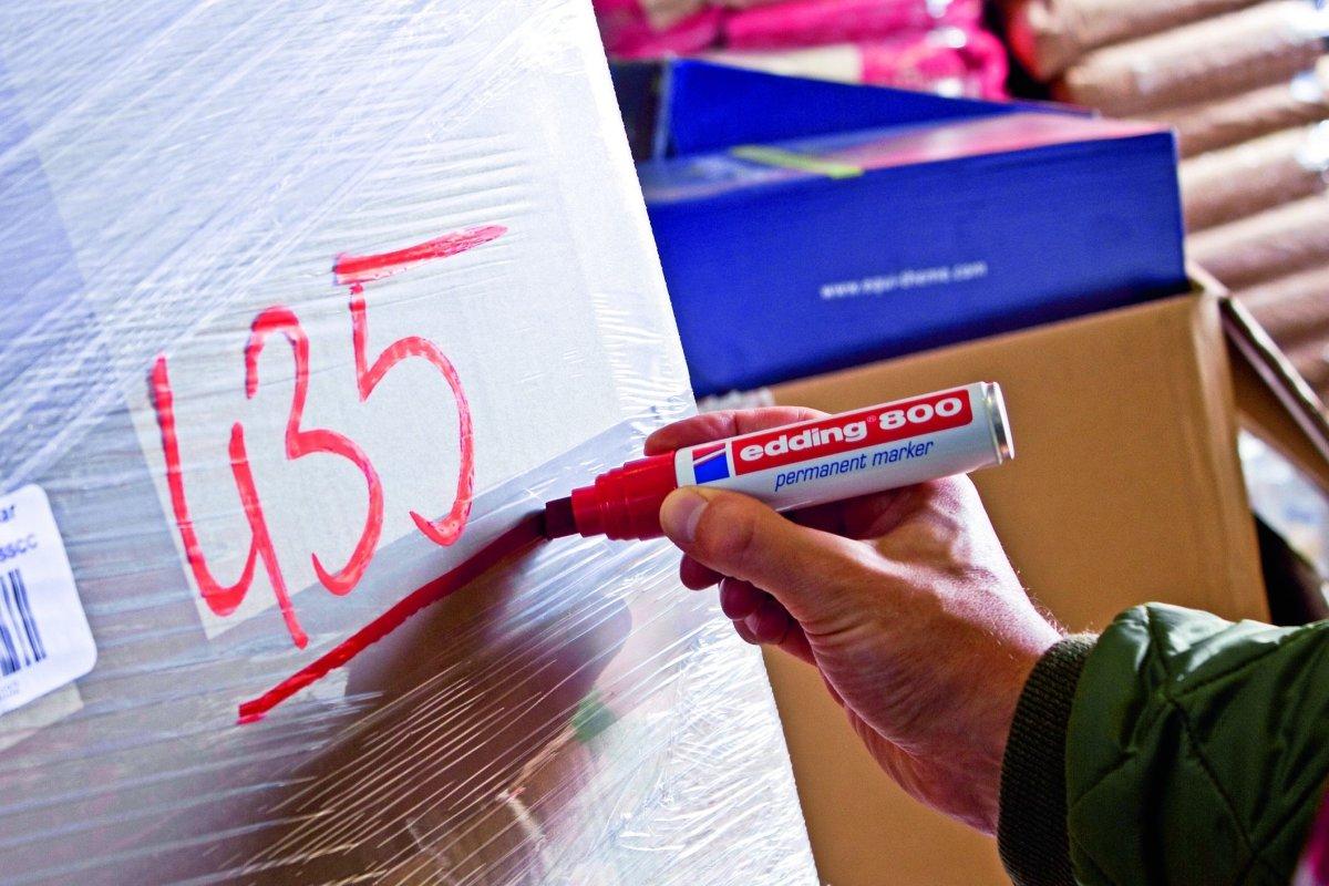 Edding 800 Permanent Marker, rød