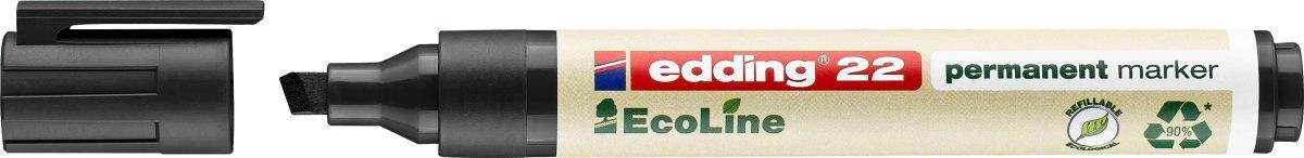 Edding 22 Ecoline Permanent Marker, 4 stk.