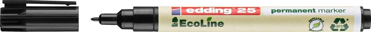 Edding 25 Ecoline Permanent Marker, sort