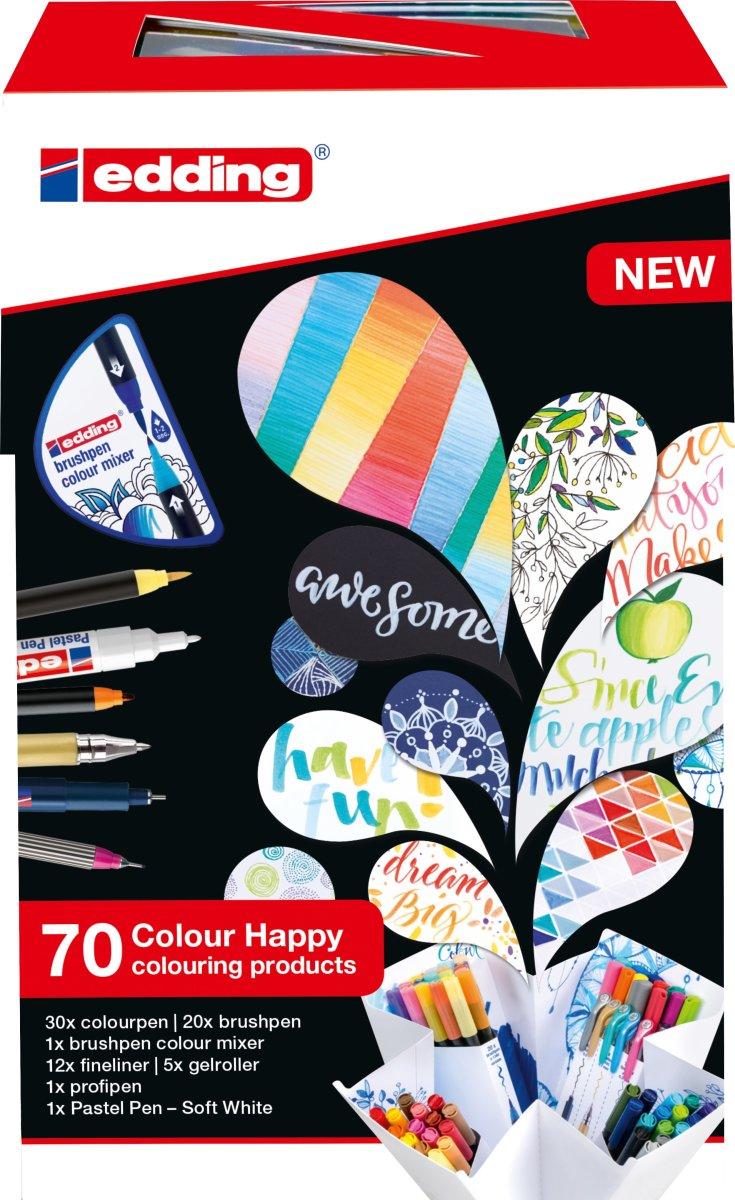 Edding Colour Happy Tusser, 70 stk.