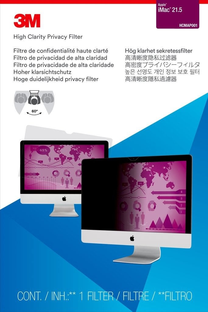 "3M HCMAP001 Privacy Filter til Apple iMac 21.5"""