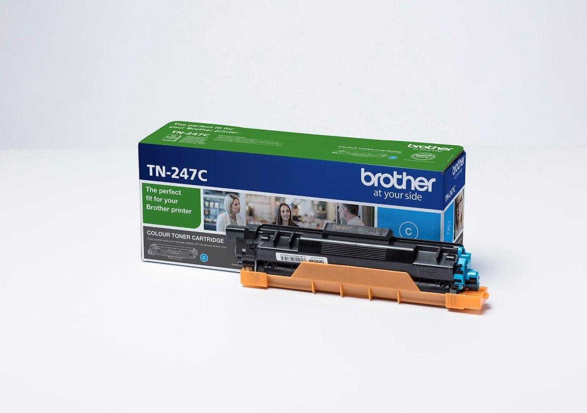 Brother TN-247C lasertoner, blå, 2.300 sider