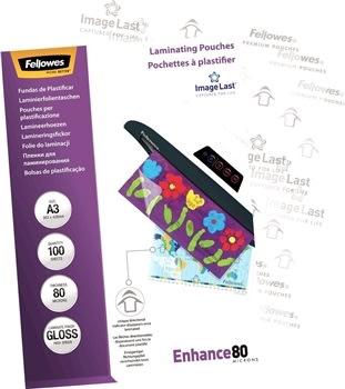 Fellowes Enhance 80 mic A3 Lamineringslomme, gloss