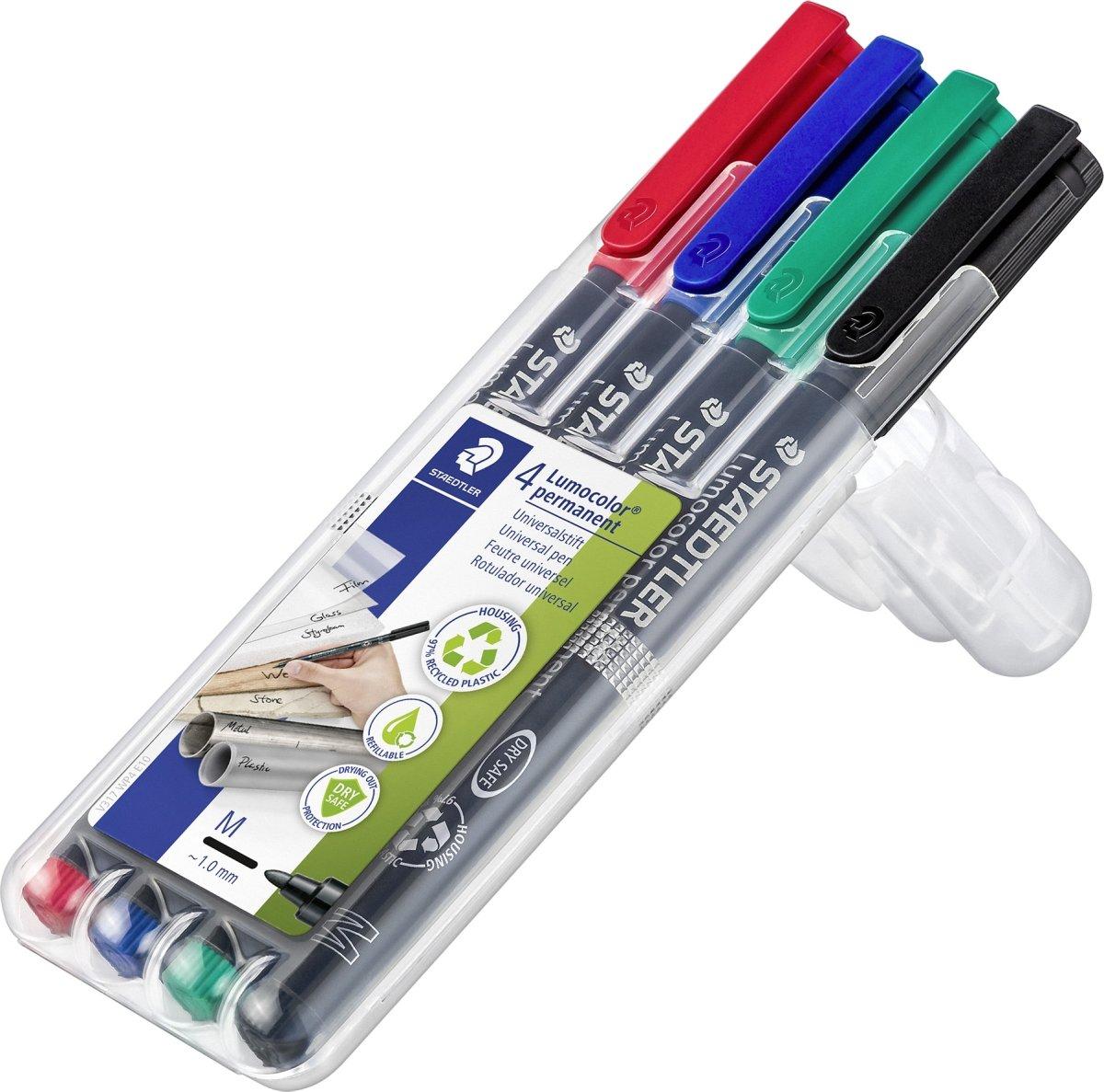Staedtler Lumocolor universal marker, 1,0 mm, 4stk