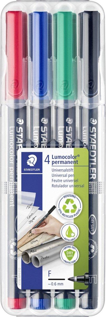 Staedtler Lumocolor 318 Marker F, perm, 4 stk.
