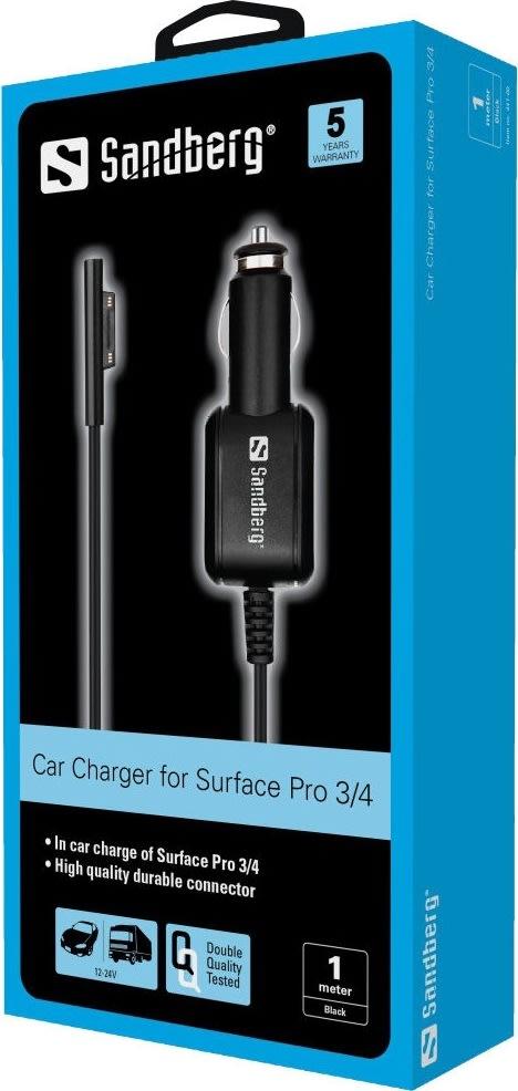 Sandberg bil oplader Surface Pro 3/4