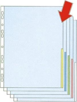 Esselte signallomme A4, PP, top+højre, 100stk, rød