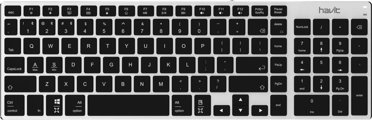 Havit Proline KB236BT trådløs tastatur, sølv