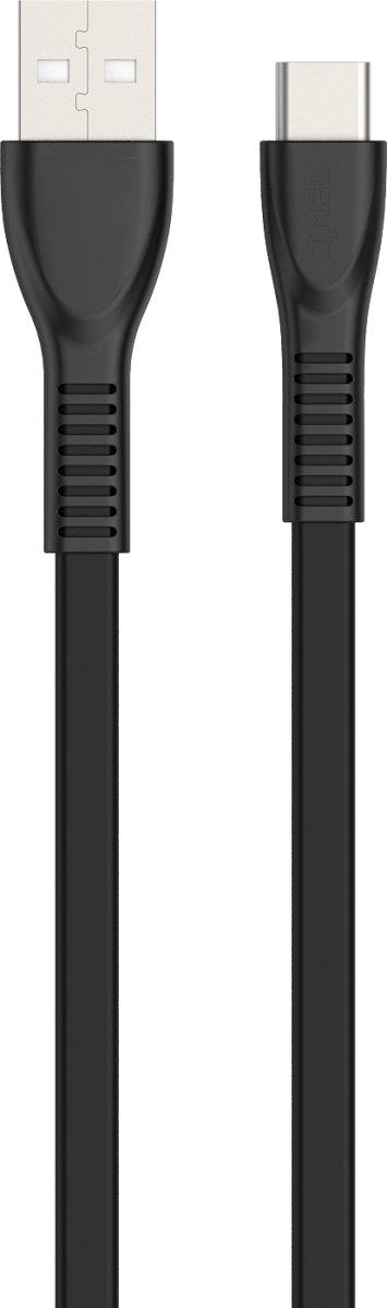Havit HV-H612 USB-kabel Type C, 1,8 meter, sort