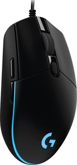 Logitech G203 Prodigy Gaming mus, sort