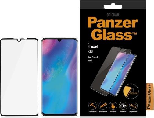 PanzerGlass til Huawei P30, sort (CaseFriendly)