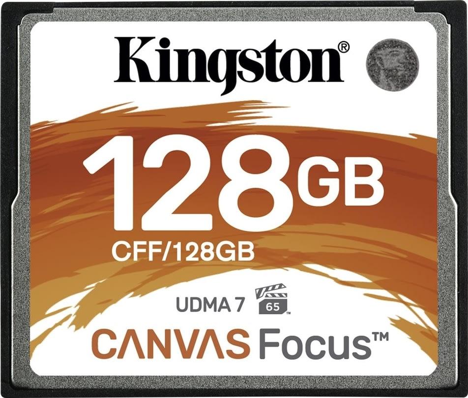 Kingston Compact Flash kort, 128GB, Canvas Focus