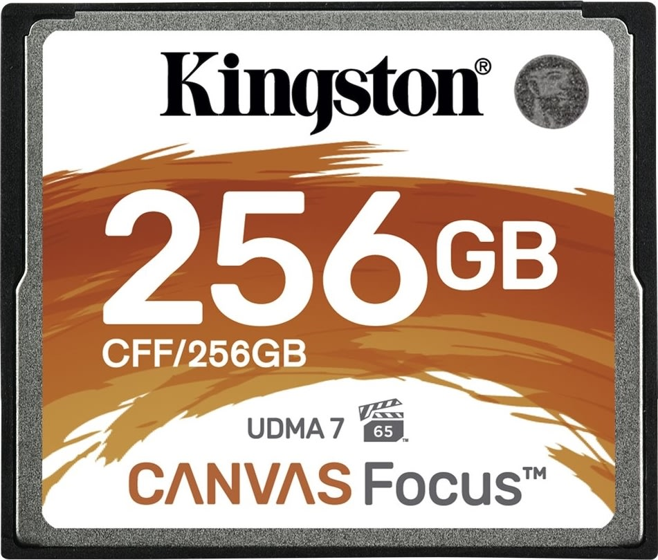 Kingston Compact Flash kort, 256GB Canvas Focus