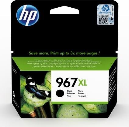 HP nr. 967/3JA31AE # BGX XL blækpatron, sort