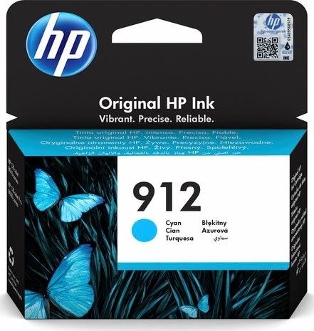 HP nr. 912/3YL77AE#BGX blækpatron, cyan, 315 sider