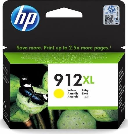HP nr. 912/3YL83AE#BGX XL blækpatron, gul