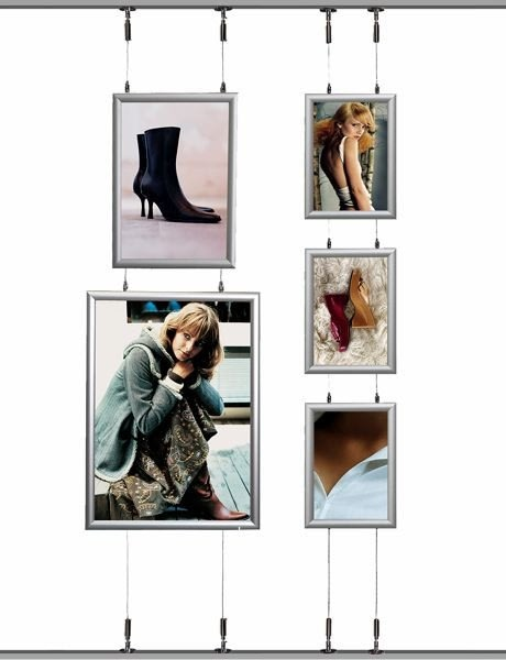 Alu Hængende Plakatramme, Snap-frame, 70x100, Sølv