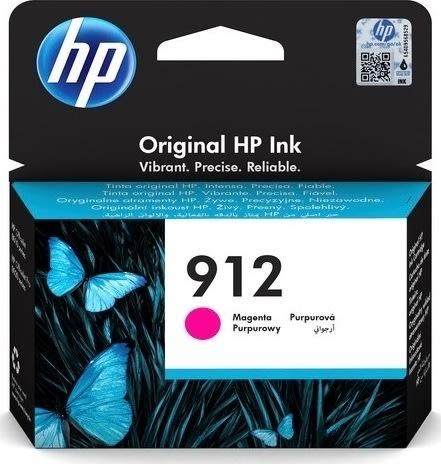 HP 912 magenta blækpatron, blister, 315s.