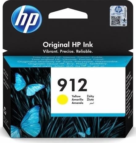 HP 912 gul blækpatron, blister, 315s.
