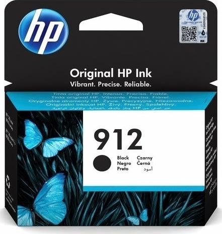 HP 912 sort blækpatron, blister, 300s.