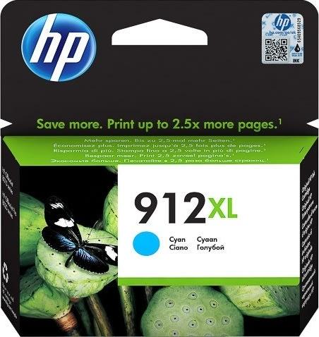 HP 912XL High Yield cyan blækpatron, bliser, 825s