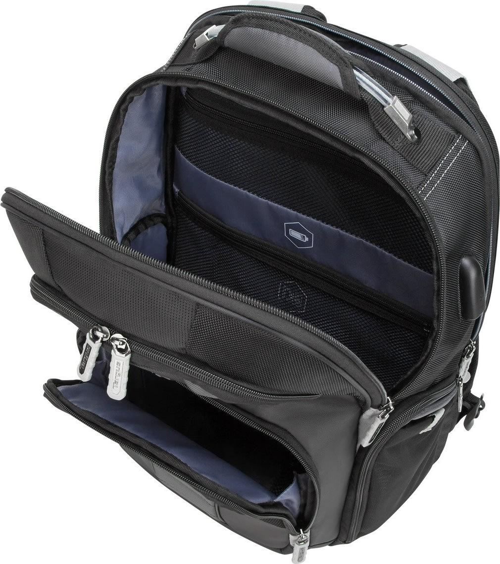 """Targus DrifterTrek 15.6""""-17.3"""" rygsæk med USB-port"""