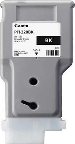 Canon PFI-320 BK blækpatron, sort, 300 ml.