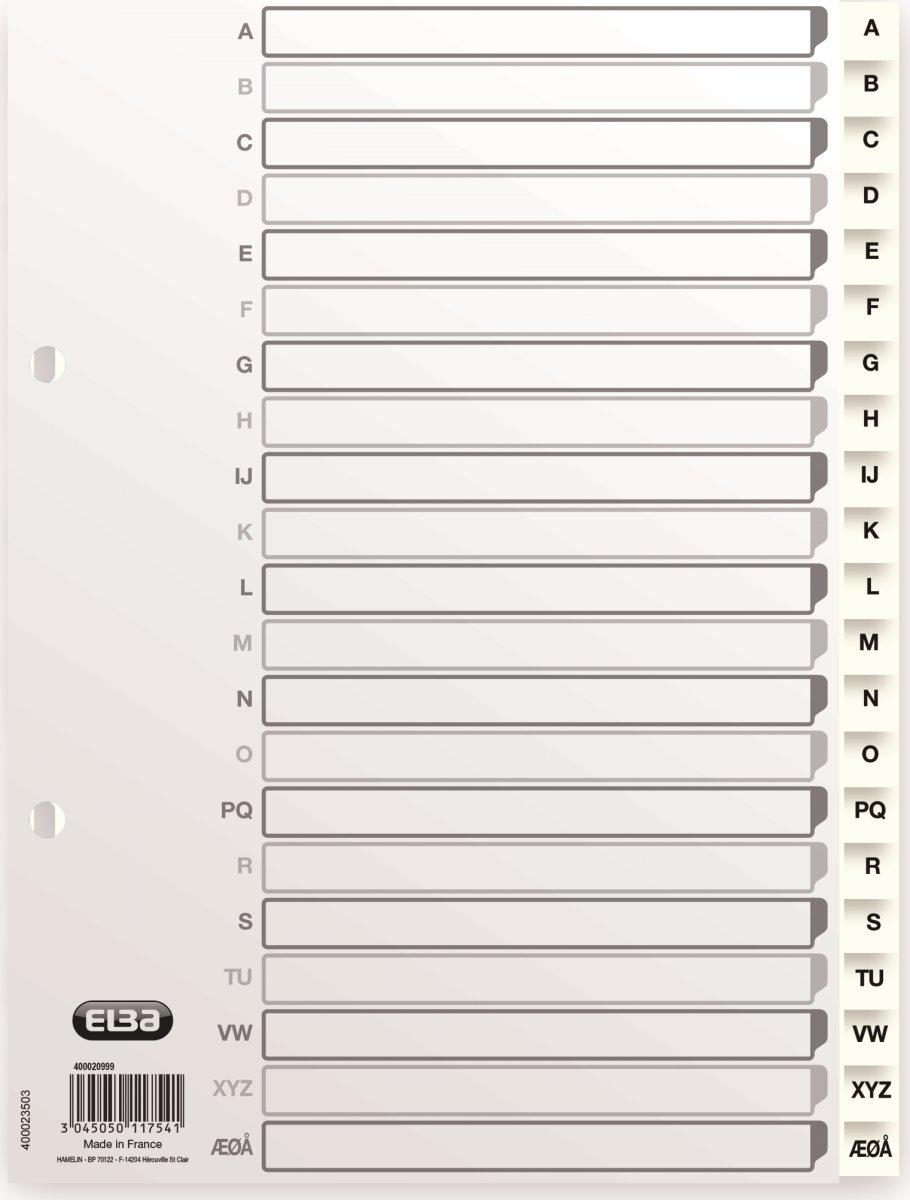 Elba Strong-Line register A5, A-Å, hvid
