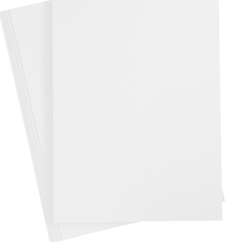 Happy Moments Papir, A4, 70g, 20 ark, hvid