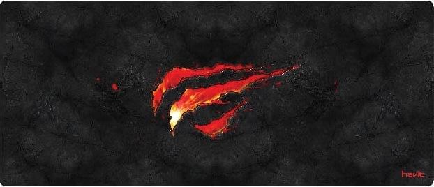 Havit HV-MP861 large gaming musemåtte, sort/rød