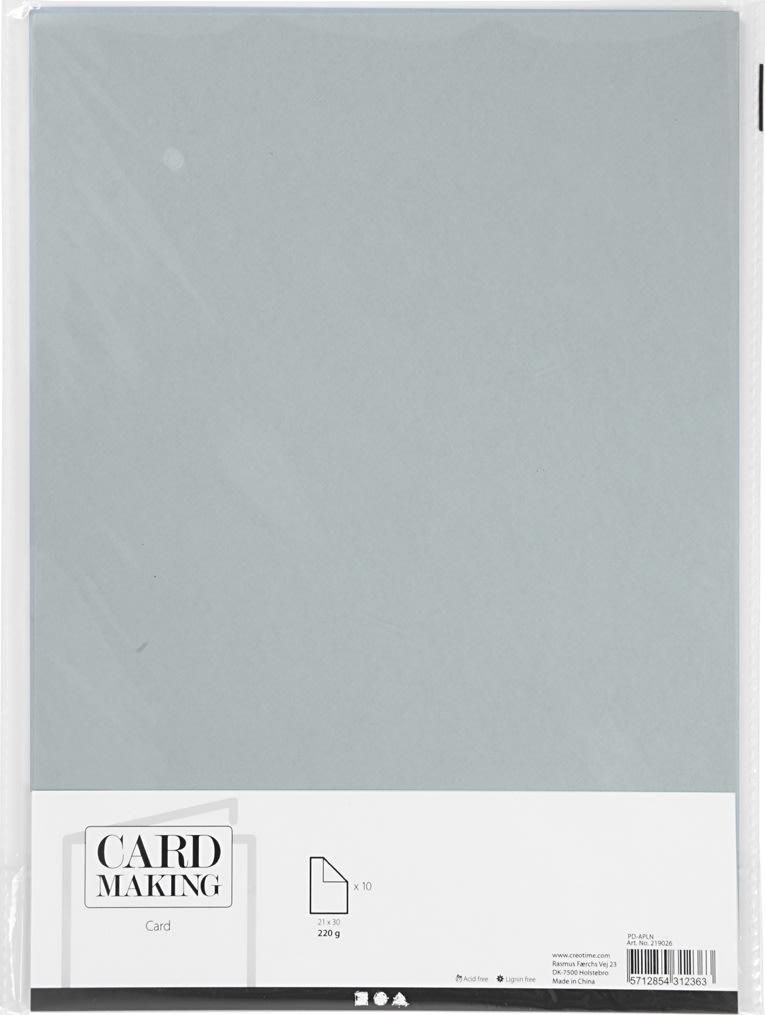 Happy Moments Karton, A4, 220g, 10 ark, grå