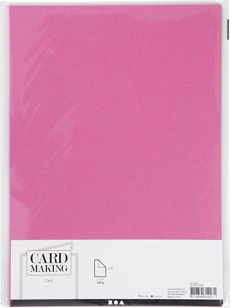 Happy Moments Karton, A4, 220g, 10 ark, pink