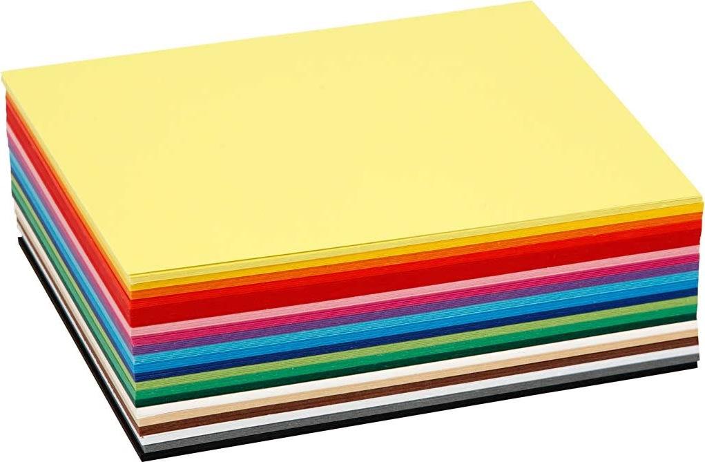 Colortime Karton, A6, 180g, 120 ark, ass. farver