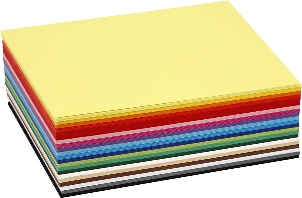 Colortime Karton, A6, 180g, 300 ark, ass. farver