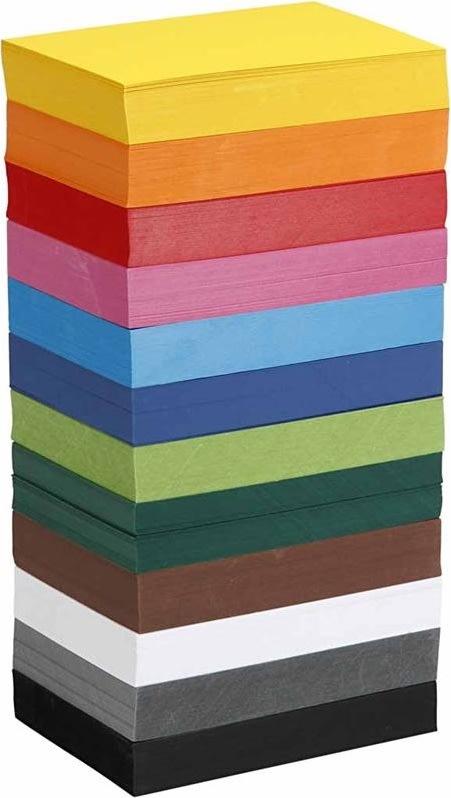 Colortime Karton, A6, 180g, 1200 ark, ass. farver