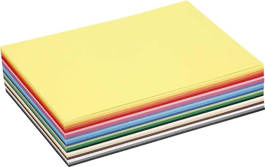 Colortime Karton, A5, 180g, 60 ark, ass. farver