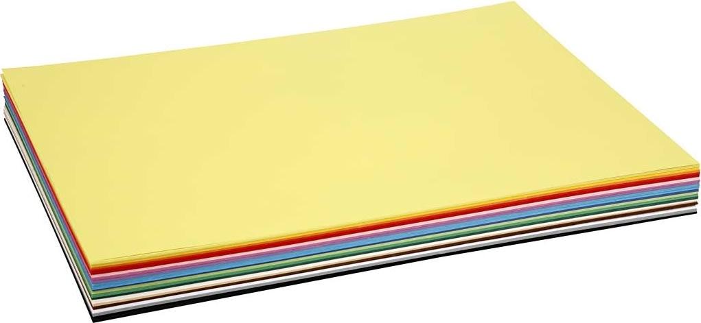 Colortime Karton, A2, 180g, 20 ark, ass. farver